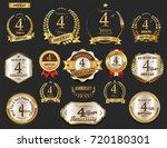anniversary golden laurel... | Shutterstock .eps vector #720180301
