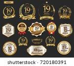 anniversary golden laurel... | Shutterstock .eps vector #720180391