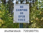 no camping or open fires sign | Shutterstock . vector #720183751