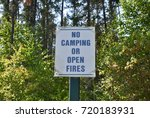 no camping or open fires... | Shutterstock . vector #720183931