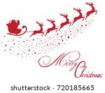 vector santa claus flying with... | Shutterstock .eps vector #720185665