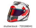 racing helmet with flag of... | Shutterstock . vector #720188041