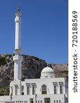 Small photo of Ibrahim al Ibrahim Mosque in Gibraltar. Gibraltar.