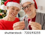 christmas  holidays and people... | Shutterstock . vector #720193255