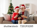 christmas  holidays and people... | Shutterstock . vector #720193285