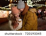 winter holidays  hot drinks and ... | Shutterstock . vector #720193345