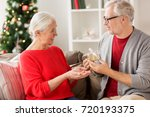 christmas  holidays and people... | Shutterstock . vector #720193375