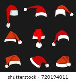 santa claus red hat isolated... | Shutterstock .eps vector #720194011