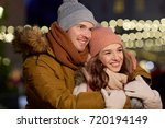 winter holidays and people... | Shutterstock . vector #720194149