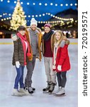 christmas  winter and leisure... | Shutterstock . vector #720195571