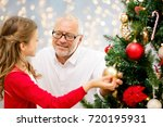 winter holidays  family and... | Shutterstock . vector #720195931