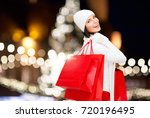 winter holidays  sale and... | Shutterstock . vector #720196495