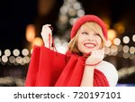 winter holidays  sale and... | Shutterstock . vector #720197101