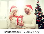 christmas  holidays and people... | Shutterstock . vector #720197779