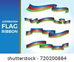 baku vector and azerbaijan flag ... | Shutterstock .eps vector #720200884