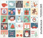 christmas advent calendar.... | Shutterstock .eps vector #720201385