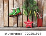 christmas composition with... | Shutterstock . vector #720201919