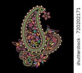 Colorful Bohemian Pattern With...