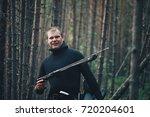Hunter Fisherman In Wet Suit...