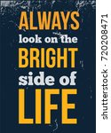 always look on the bright side... | Shutterstock .eps vector #720208471