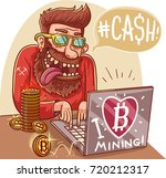 extraction electronic crypto... | Shutterstock .eps vector #720212317