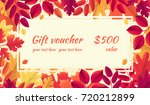 gift voucher with various... | Shutterstock .eps vector #720212899