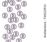 bitcoin background. linear... | Shutterstock .eps vector #720212911