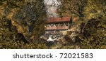 An Old Covered Bridge In The...