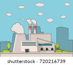 manufacturing building. city... | Shutterstock . vector #720216739