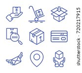 delivery icon set | Shutterstock .eps vector #720217915