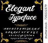 vector set of handwritten abc...   Shutterstock .eps vector #720222379