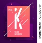 cool abstract alphabet poster... | Shutterstock .eps vector #720222949