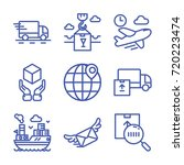 delivery icon set | Shutterstock .eps vector #720223474