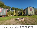 gypsy holiday cabins  | Shutterstock . vector #720225829