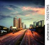 the urban traffic at shenzhen... | Shutterstock . vector #720227041