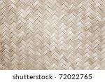 Texture Of Bamboo Handicraft...