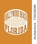 hollywood beach stamp sea... | Shutterstock .eps vector #720228289