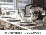 dinner plates | Shutterstock . vector #720229099