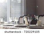 dinner plates | Shutterstock . vector #720229105