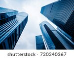 low angle view of skyscrapers... | Shutterstock . vector #720240367