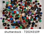 many different buttons. buttons ... | Shutterstock . vector #720243109
