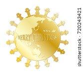 children and santa claus   Shutterstock .eps vector #720243421