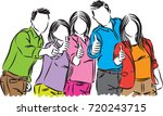group of positive people vector ... | Shutterstock .eps vector #720243715