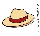 male hat summer icon | Shutterstock .eps vector #720255169