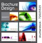 business brochure layout design ... | Shutterstock .eps vector #72025525