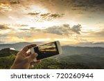 landscap sunset  blur take photo   Shutterstock . vector #720260944