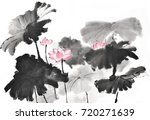 chinese style drawings ... | Shutterstock . vector #720271639