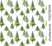 watercolor christmas set.... | Shutterstock . vector #720278545