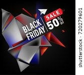 black friday sale poster. 3d... | Shutterstock .eps vector #720279601