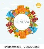 geneva skyline with color... | Shutterstock . vector #720290851